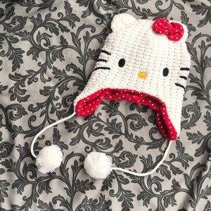 NWOT Hello Kitty Sanrio Pom-Pom Knit Winter Hat